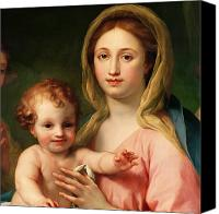 Son Canvas Prints - Madonna and Child Canvas Print by Anton Raphael Mengs