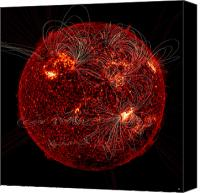 Chromosphere Canvas Prints - Magnetic Field Lines On The Sun Canvas Print by Stocktrek Images