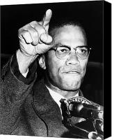 Malcolm X Canvas Prints - Malcolm X (1925-1965) Canvas Print by Granger