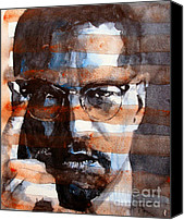 X Canvas Prints - MalcolmX Canvas Print by Paul Lovering