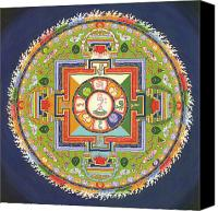 Thangka Canvas Prints - Mandala of Avalokiteshvara           Canvas Print by Carmen Mensink