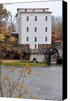 Indiana Autumn Canvas Prints - Mansfield Mill Parke County Indiana Canvas Print by Marsha Williamson Mohr
