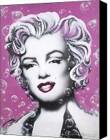 Marilyn Monroe  Canvas Prints - Marilyn Monroe Canvas Print by Alicia Hayes