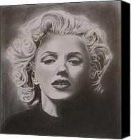 Marilyn Munroe Canvas Prints - Marilyn Monroe Canvas Print by Mike OConnell