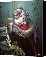 Lips  Painting Canvas Prints - Marquis de Sole Canvas Print by Patrick Anthony Pierson