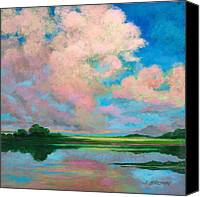 John Brown Canvas Prints - Marsh Clouds Canvas Print by John Brown