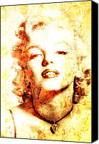 Marylin Canvas Prints - Marylin Monroe  Canvas Print by Juan Jose Espinoza