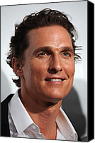 Cipriani Restaurant Wall Street Canvas Prints - Matthew Mcconaughey At Arrivals Canvas Print by Everett