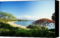 Mauna Kea Canvas Prints - Mauna Kea Beach Canvas Print by Peter French - Printscapes