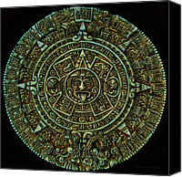 2012 Canvas Prints - Mayan Calendar Canvas Print by Randall Arthur