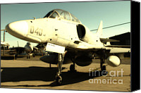 Us Navy Fighters Canvas Prints - McDonnell Douglas TA-4J Skyhawk Aircraft Fighter Plane . 7D11198 Canvas Print by Wingsdomain Art and Photography