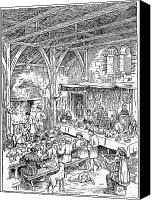 Dining Hall Canvas Prints - Medieval Dining Hall Canvas Print by Granger