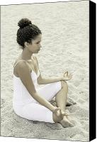 African American Female Canvas Prints - Meditation Canvas Print by Joana Kruse