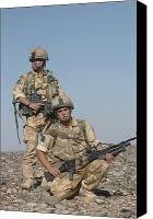 Foot Patrol Canvas Prints - Members Of The British Army On Foot Canvas Print by Andrew Chittock