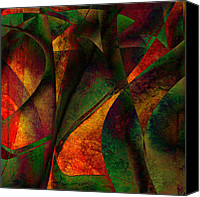 Merging Digital Art Canvas Prints - Merging Canvas Print by Amanda Moore