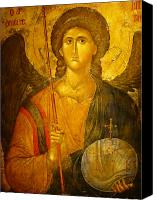 Byzantine Photo Canvas Prints - Michael the Archangel Canvas Print by Ellen Henneke