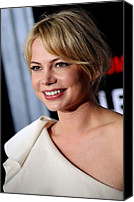 Michelle Canvas Prints - Michelle Williams At Arrivals Canvas Print by Everett