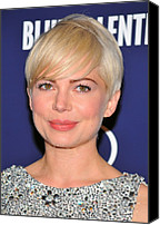 Michelle Canvas Prints - Michelle Williams At Arrivals For Blue Canvas Print by Everett