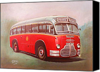 1949 Canvas Prints - Midland Red C1 Canvas Print by Mike  Jeffries