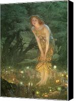 Fantasy Canvas Prints - Midsummer Eve Canvas Print by Edward Robert Hughes