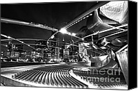 Pavilion Canvas Prints - Millennium Park Canvas Print by Sebastian Musial