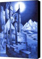 Mythological Canvas Prints - Minas Tirith Canvas Print by Curtiss Shaffer
