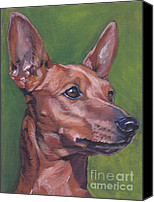 Pinscher Canvas Prints - Miniature Pinscher Canvas Print by Lee Ann Shepard