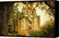 Mission Bells Canvas Prints - Mission Espada Canvas Print by Iris Greenwell