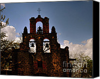 Rural Texas Canvas Prints - Mission San Francisco de la Espada Canvas Print by Gerlinde Keating - Keating Associates Inc