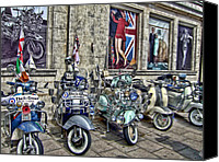 Co Canvas Prints - Mod scooters and 60s fashion Canvas Print by Jasna Buncic