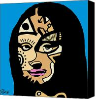 Popstract Canvas Prints - Mona Lisa full color Canvas Print by Kamoni Khem