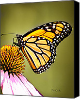 Macro Photography Canvas Prints - Monarch Butterfly Canvas Print by Bob Orsillo
