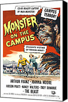 1950s Movies Canvas Prints - Monster On The Campus, Arthur Franz Canvas Print by Everett