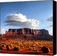 Featured Canvas Prints - Monument Valley Canvas Print by Luisa Azzolini