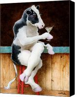 Black Canvas Prints - Mootini... Canvas Print by Will Bullas