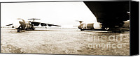 Regeneration Photo Canvas Prints - Mothballed C-141s Canvas Print by Jan Faul