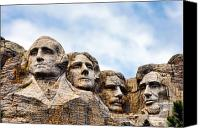Roosevelt Canvas Prints - Mount Rushmore Canvas Print by Olivier Le Queinec