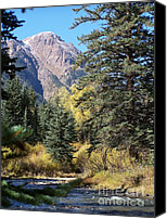 Realistic Art Canvas Prints - Mountain River Canvas Print by David Ackerson