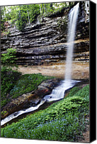 Forest Canvas Prints - Munising Falls Canvas Print by Adam Romanowicz