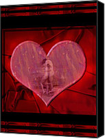 Couples Digital Art Canvas Prints - My Hearts Desire Canvas Print by Kurt Van Wagner