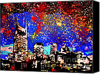 Modern Painting Special Promotions - Nashville Canvas Print by Nickie Mantlo