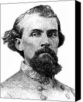 War Is Hell Store Canvas Prints - Nathan Bedford Forrest Canvas Print by War Is Hell Store