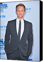 Gray Suit Canvas Prints - Neil Patrick Harris At Arrivals For The Canvas Print by Everett