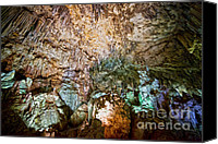 Cavern Canvas Prints - Nerja Caves in Spain Canvas Print by Artur Bogacki