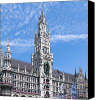 Rathaus Photo Canvas Prints - New town hall Canvas Print by Andrew  Michael