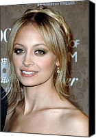 Black Tie Photo Canvas Prints - Nicole Richie At Arrivals For The Art Canvas Print by Everett