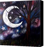 Lonesome Canvas Prints - Night gazing Canvas Print by Monica Furlow