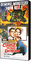 1950s Movies Canvas Prints - Night Of The Demon, Aka Curse Of The Canvas Print by Everett
