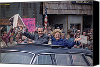 First Lady Canvas Prints - Nixon 1972 Re-election Campaign Canvas Print by Everett