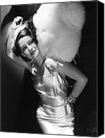 Satin Dress Canvas Prints - Norma Shearer Canvas Print by Everett